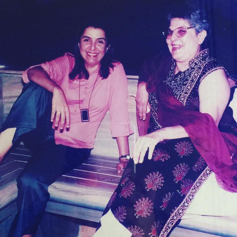 farah khan and mother menaka irani
