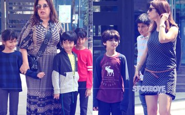 Sussanne Khan & Farah Khan Spotted With Kids In The City, Here Are Some Of Their Pictures From Yesterday...