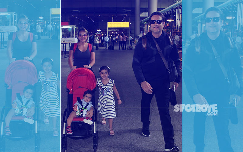 Fardeen Khan With Kids & Wife At Mumbai Airport- Picture Perfect, Aren't They?