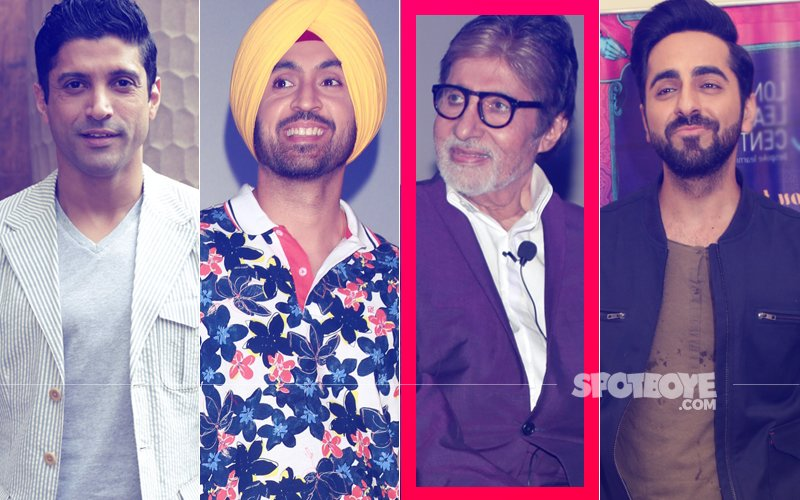 Here's What Farhan Akhtar, Diljit Dosanjh &  Ayushmann Khurrana Have In Common With Amitabh Bachchan