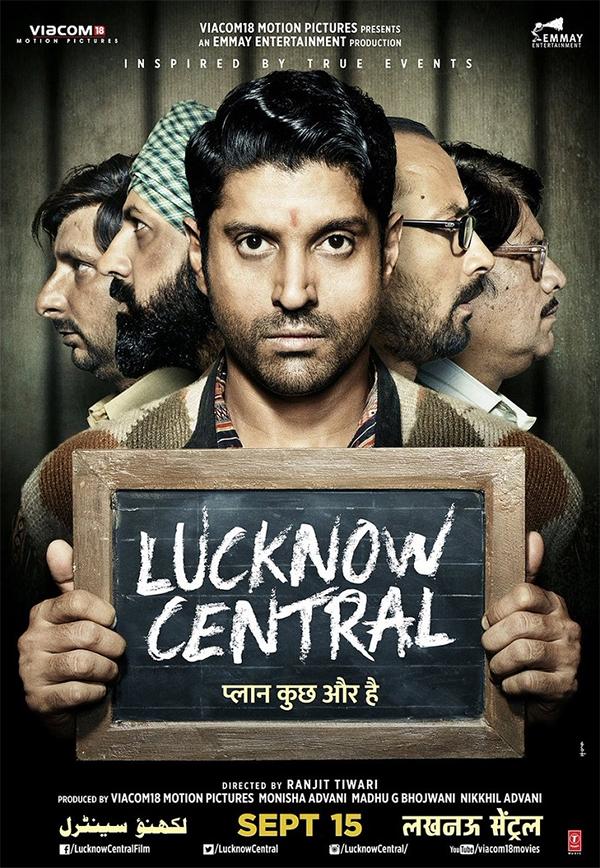 farhan akhtar lucknow central poster