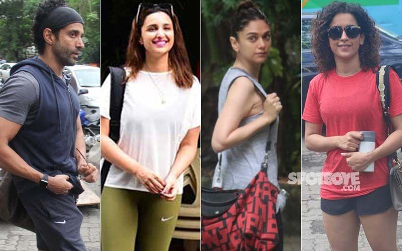 Farhan Akhtar, Parineeti Chopra, Aditi Rao Hydari, Sanya Malhotra Ace The Casual Gym Look