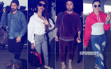 Farhan Akhtar, Malaika Arora, Ranbir Kapoor & Urvashi Rautela Rock The Airport Look In Style