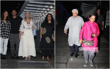 Amid Farhan Akhtar-Shibani Dandekar Marriage Rumours Couple Dines With Zoya, Javed, Shabana, Honey Irani