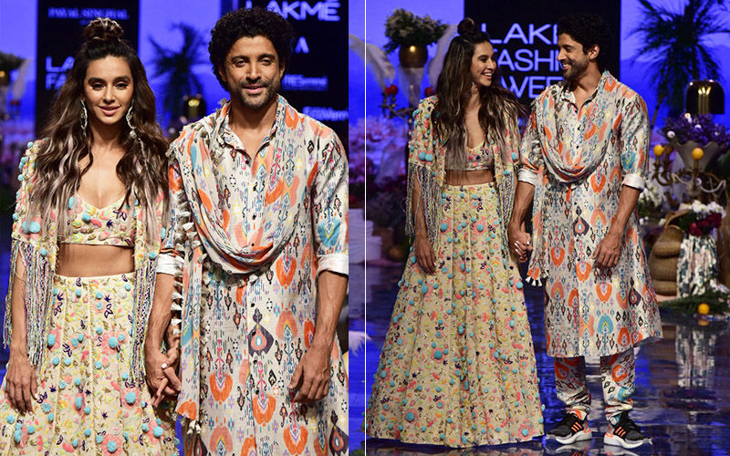 Lakmé Fashion Week 2019: Farhan Akhtar Does Something Really Cute For Ladylove Shibani Dandekar On The Runway; Her Reaction Is Priceless