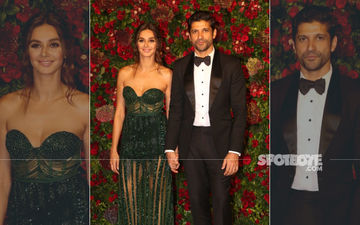It's Official: Farhan Akhtar And Shibani Dandekar Make A Joint Entry Holding Hands At DeepVeer's Wedding Reception