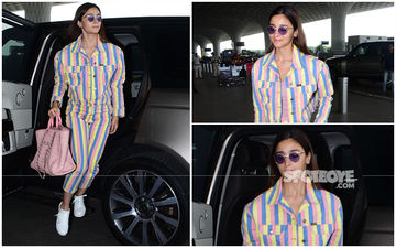 FASHION CULPRIT OF THE DAY: Alia Bhatt, Your Attempt At Candy Stripes With This Co-Ord Set Is A Total Disaster!