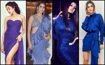 Janhvi Kapoor, Mira Rajput, Sonakshi Sinha, Kriti Sanon Give Tips On How To Rock Colours Of The Season- Purple And Blue!