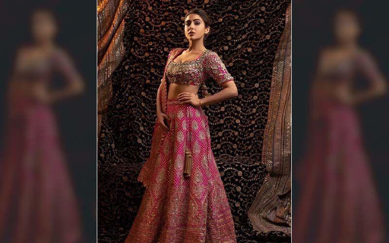 Sara Ali Khan Makes For A Breathtaking Bride In A Heavenly Pink Lehenga;  Actress Accepting Rishtas?