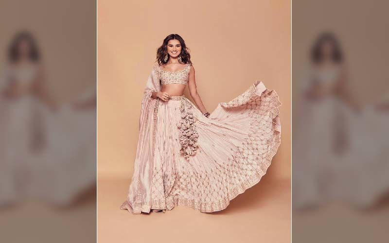 This Summer Get Inspiration From Tara Sutaria, Her Nude Pink Lehenga Is Perfect For A Engagement Party