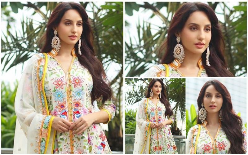 FASHION CULPRIT OF THE DAY: Nora Fatehi, How About Forever Hiding That Floral Indian Outfit In Your Cupboard?