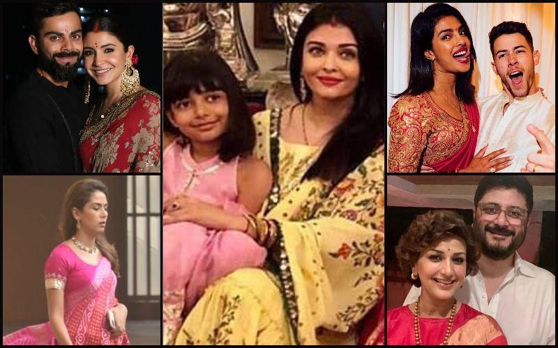 Karwa Chauth 2019: What Aishwarya Rai Bachchan, Priyanka Chopra Jonas, Anushka Sharma, Mira Rajput, Sonali Bendre Wore