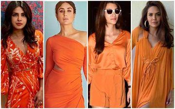 10 Times Priyanka Chopra Jonas, Kareena Kapoor Khan, Kriti Sanon, Esha Gupta Rocked The Rusty Orange!