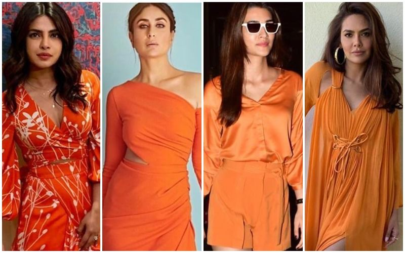 10 Times Priyanka Chopra Jonas, Kareena Kapoor Khan, Kriti Sanon, Esha Gupta Rocked The Rusty Orange!