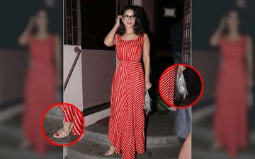 FASHION CULPRIT OF THE DAY: Sunny Leone, Could You Explain Those Heels And That Clutch, Please?