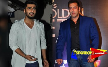 Arjun hides backstage from Salman
