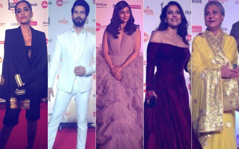 FILMFARE AWARDS 2018: Sonam, Alia, Shahid Arrive; DO NOT MISS Kajol, Jaya Bachchan's K3G Moment
