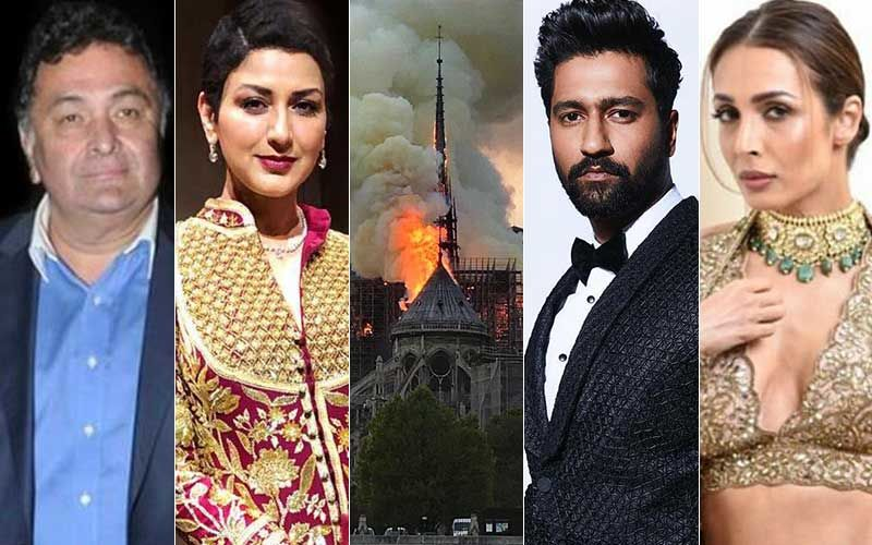 Notre Dame Cathedral Fire In Paris: Rishi Kapoor, Sonali Bendre, Vicky Kaushal, Malaika Arora Are Heartbroken