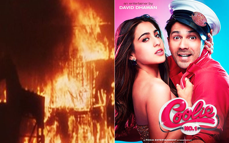 Massive Fire Breaks Out On Sets Of Varun Dhawan And Sara Ali Khan Starrer Coolie No 1