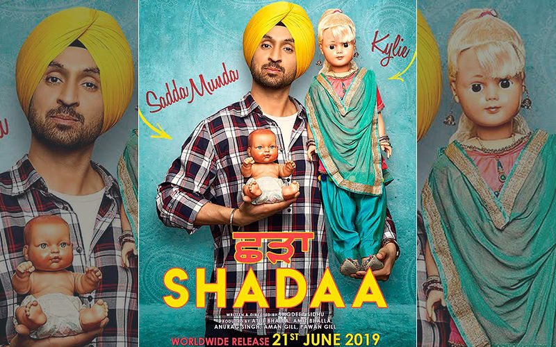 First Look Poster Of Diljit Dosanjh, Neeru Bajwa Starrer 'Shadaa' Is Out And It Mysteriously Features Kylie!