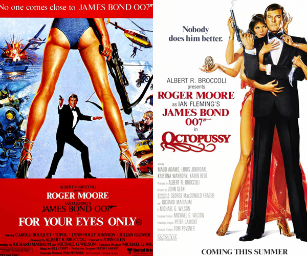 roger-moore-movies for your eyes only and octopussy movie poster