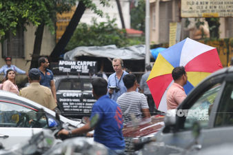 FRESH PICTURES: Christopher Nolan And Dimple Kapadia Spotted On The Streets Of Mumbai Shooting For Tenet