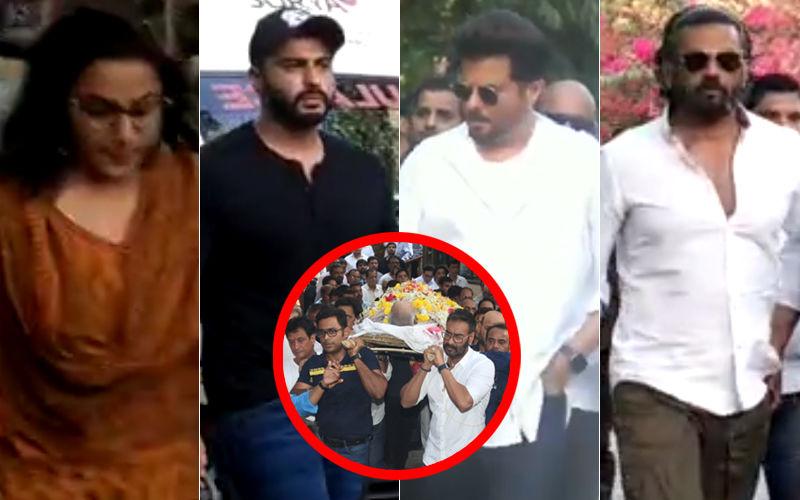 Veeru Devgan Funeral: Vidya Balan, Arjun-Anil Kapoor, Suniel Shetty Join Ajay-Kajol In Their Moment Of Grief