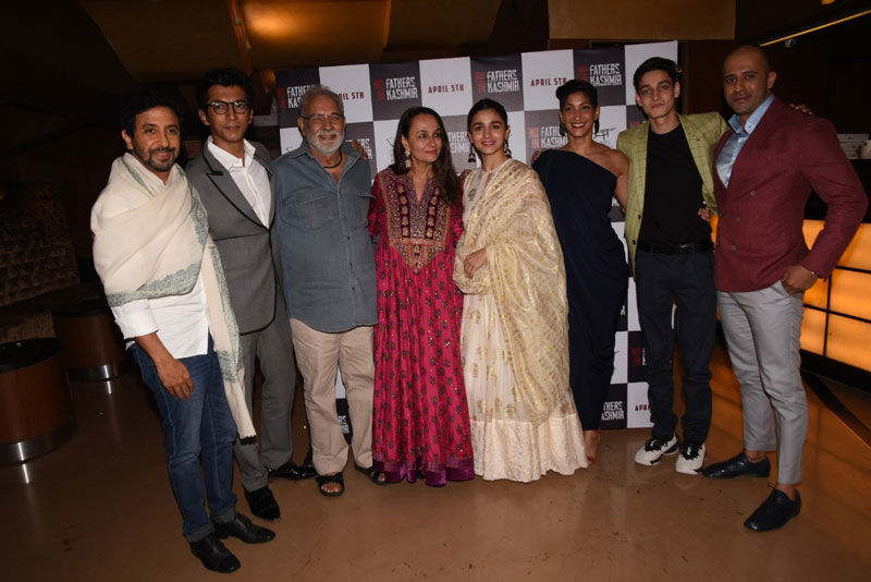 Alia Bhatt, Kalki Koechlin, Jim Sarbh, Shabana Azmi Attend Special Screening Of No Fathers In Kashmir
