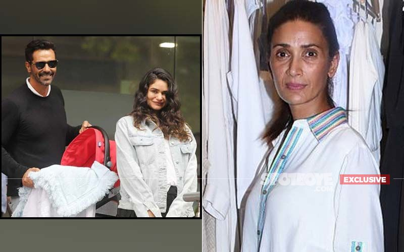 Arjun Rampal Attends Mehr's Ganpati Celebrations With Gabriella Demetriades And His Newborn Son- EXCLUSIVE