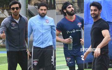 Football Fever Grips Ranbir Kapoor, Abhishek Bachchan, Ahan Shetty And Karan Wahi