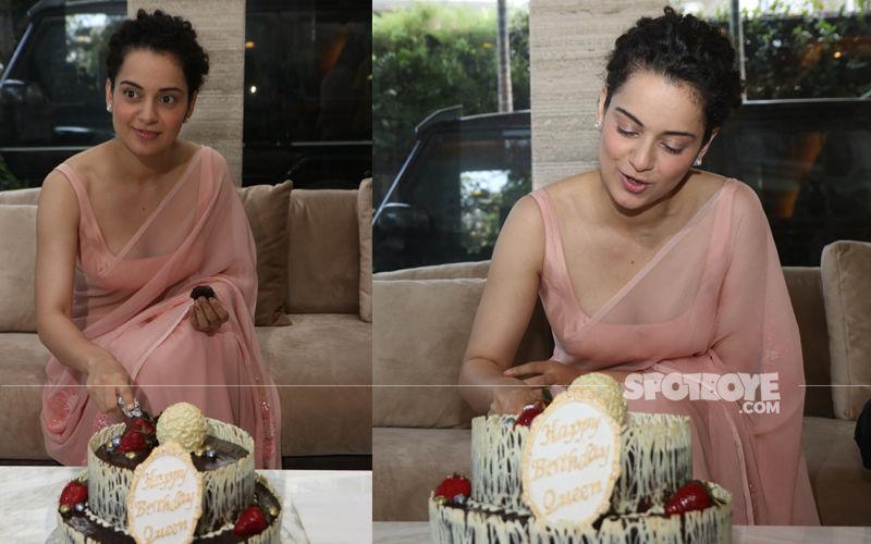 Kangana Ranaut's 32ND Birthday: Manikarnika Actress Celebrates With Media