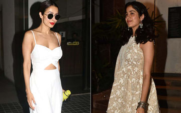 Celeb Spotting: Malaika Arora Is A Vision In White, Janhvi Kapoor Stuns In Traditional Wear