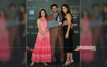 IIFA 2020: Kartik Aaryan Makes A Hot Statement Flanked By Gorgeous Ladies Katrina Kaif And Dia Mirza