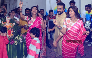 Ganesh Chaturthi 2018: Shilpa Shetty Dances At The Visarjan In A Pink Saree, In Video And Pics