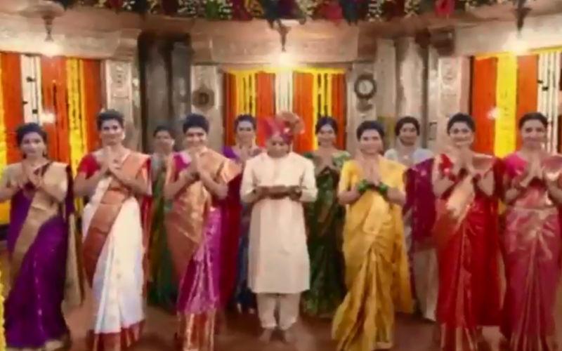 Ganesh Chaturthi 2019: Gauri Nalawade With Mahesh Tilekar And Marathi Taraka Team In The  Official Video Of Dagadusheth Aart