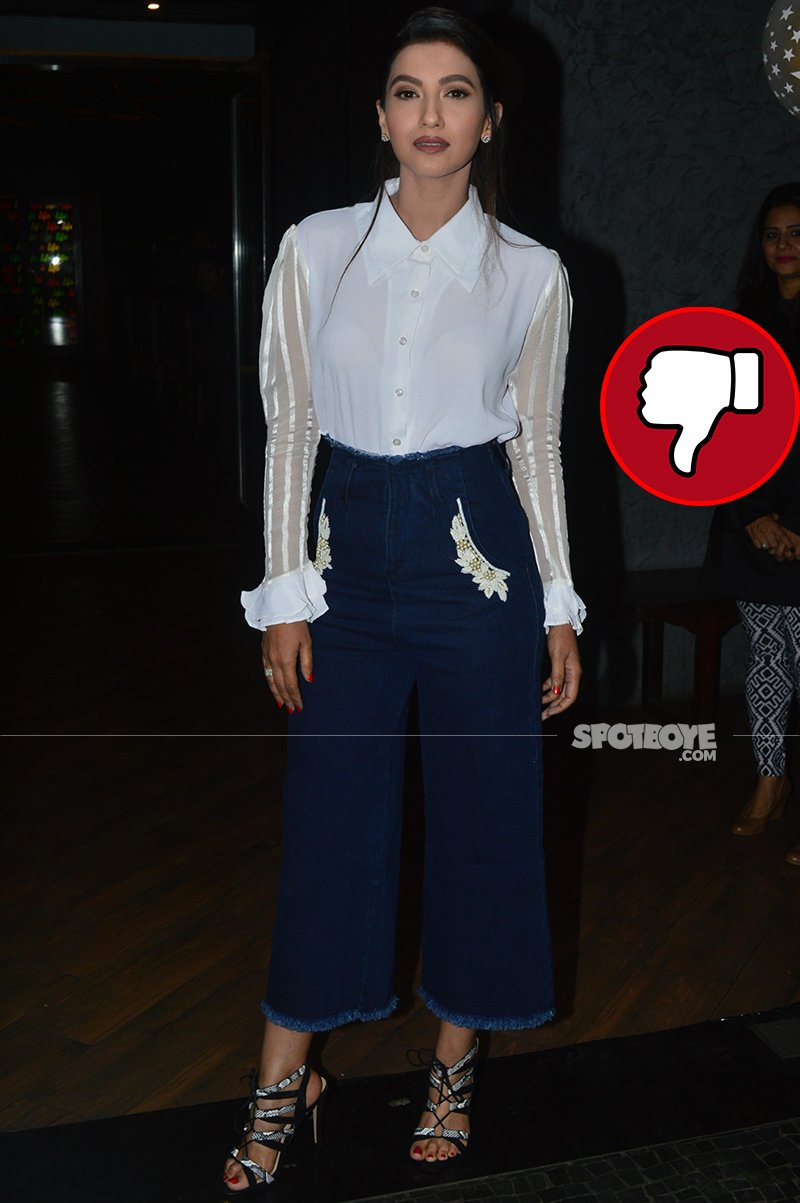 gauahar khan poses for the media