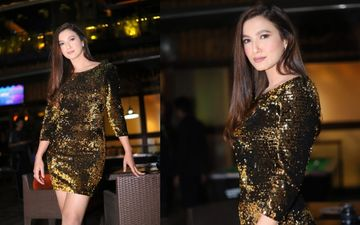 Gauahar Khan Wears A Shimmery Short Dress For Her Birthday; Glows Like A Thousand Nightbulbs As She Parties Away