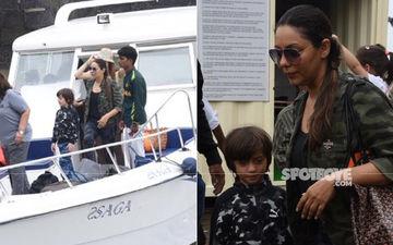 Gauri-AbRam Khan, Sussanne Khan, Karan Johar's Kids Yash-Roohi Head To SRK's Alibaug Farmhouse- SEE Pics