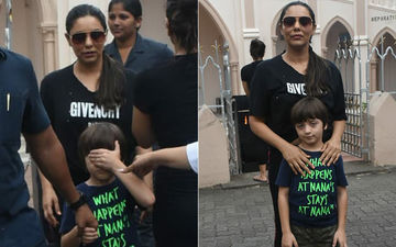 Spotted! Gauri Khan And AbRam Attend The Sunday Mass At Mount Mary Church In Bandra