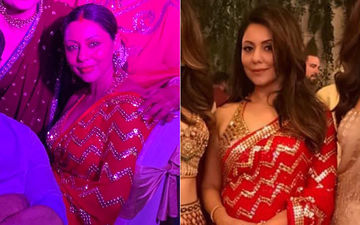 Gauri Repeats Her Red-Gold Saree At Kolkata Family Wedding; Netizens Applaud Mrs. Khan!