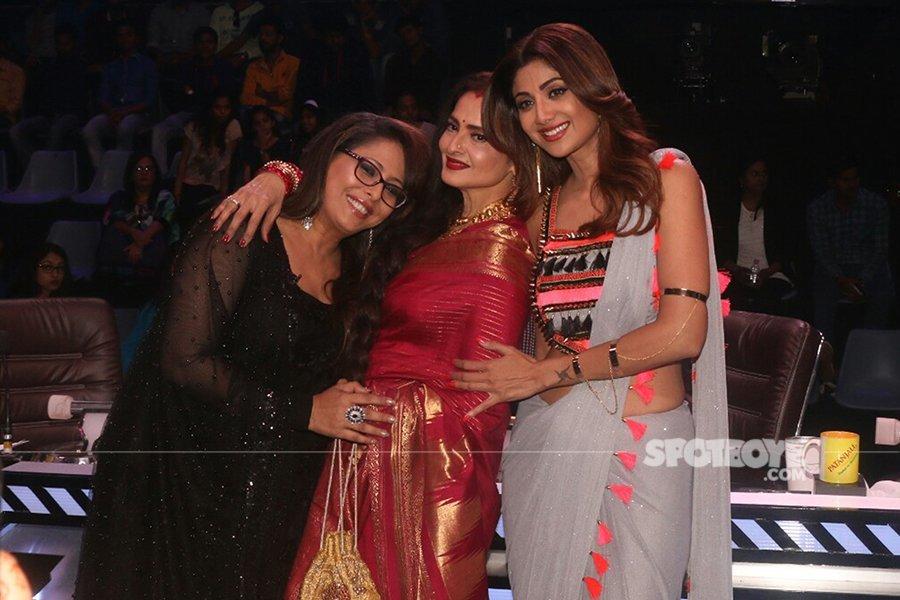 geeta kapoor rekha and shilpa shetty on super dancer