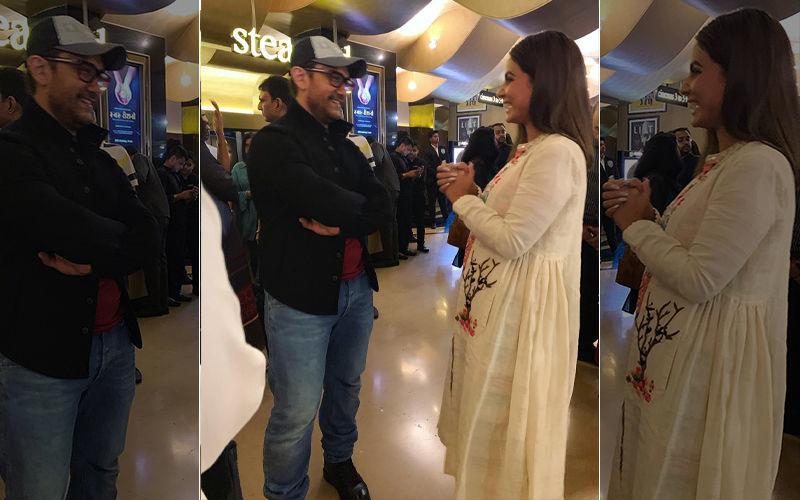 टीवी  एक्ट्रेस हिना खान ने की आमिर खान से मुलाकात, जानिए मिलने की वजह