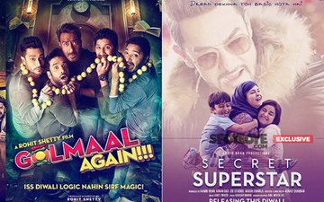 Golmaal Again FAILS TO DOWNSIZE Secret Superstar In The Opening Day Display