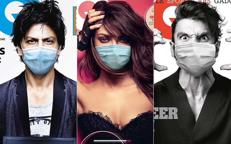 Priyanka Chopra, Ranveer Singh, SRK's Old Magazine Covers Photoshopped With A Face Mask; Netizens Thrash And Dismiss The Idea
