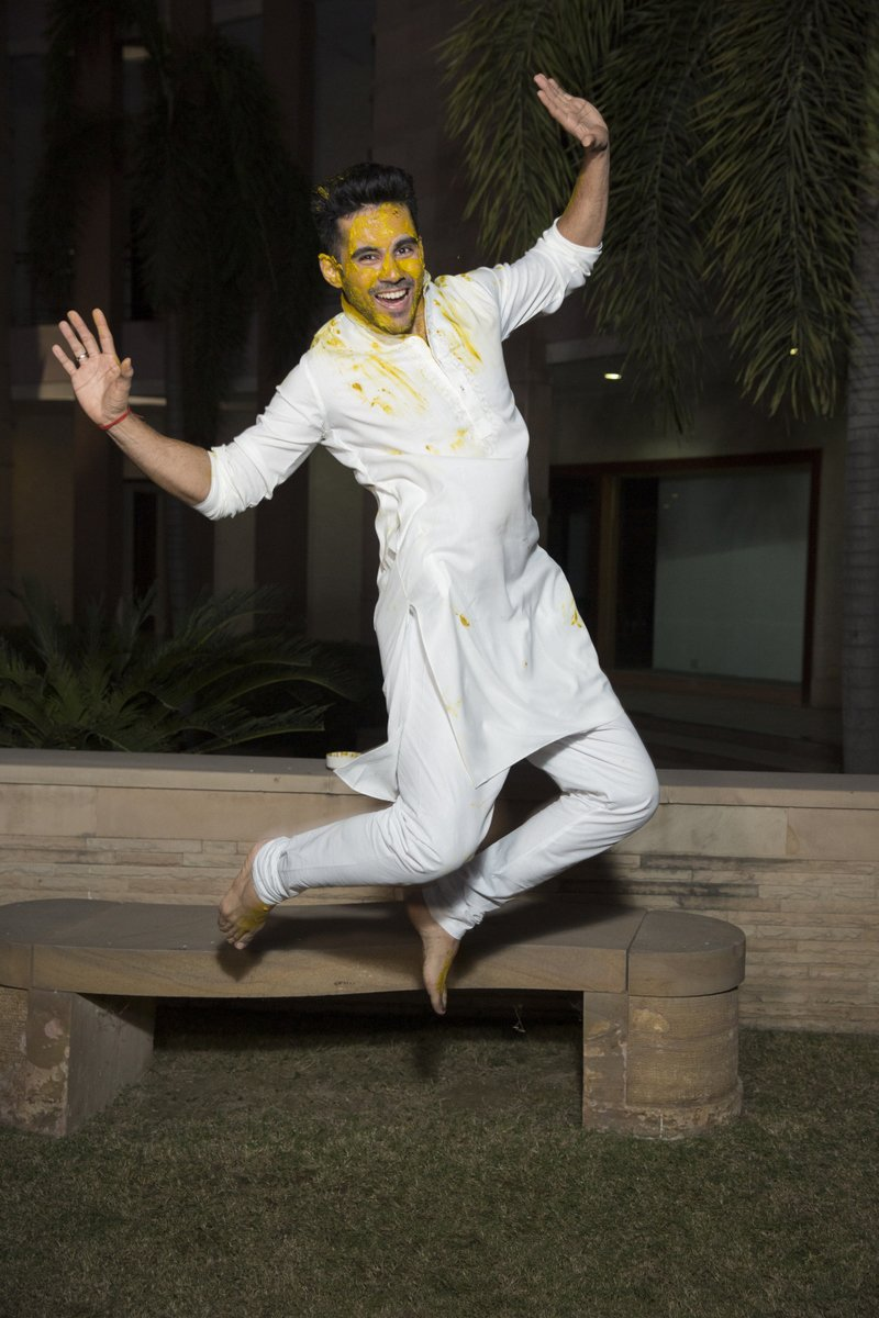 groom abhishek bajaj post haldi ceremony