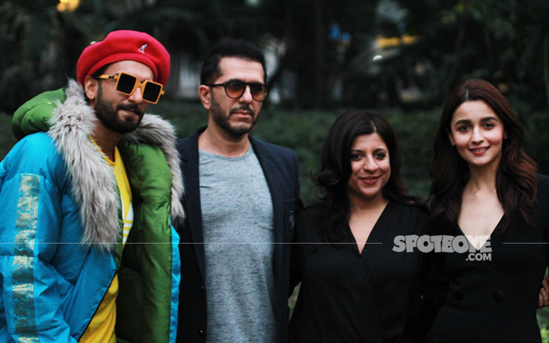 Gully Boy Promotions: Ranveer Singh Goes Funky As Alia Bhatt Keeps It Classy Black In Delhi