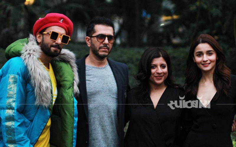 गली बॉय के प्रमोशन में रणवीर सिंह ने अपनाया फंकी अवतार और आलिया भट्ट नजर आई क्लासी ऑउटफिट में