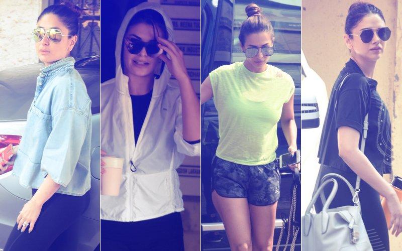 BANDRA BABES WORKOUT DIARIES: Kareena, Jacqueline, Malaika, Aditi Spotted At The Gym This Afternoon