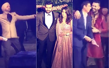 VIRAT-ANUSHKA MUMBAI RECEPTION: Dhawan, Yuvraj, Harbhajan & Nehra Dance Their Way To The Stage