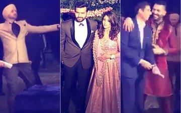 VIRAT-ANUSHKA MUMBAI RECEPTION: Dhawan, Yuvraj, Harbhajan & Nehra Dance Their Way To The Stage
